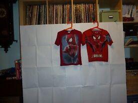 """Kids """"Spider Man"""" Tshirts x 2 (7-8 yrs)"""