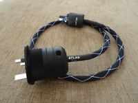 Atlas EOS 2.0 UK Mains Power Cable 1m Length Mint Condition