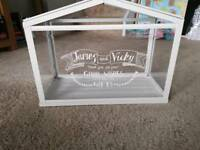 Personalised wedding card box