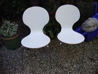 Pair Of Retro Christine Keeler,style,Chairs.