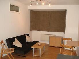 A spacious studio flat with separated sleeping area