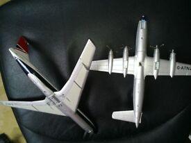 corgi diecast aeroplanes ba and caledonian
