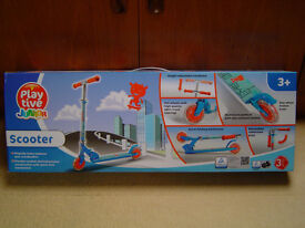 BRAND NEW CHILDS SCOOTER BY PLAY TIVE JUNIOR, BOXED NEVER OPENED.
