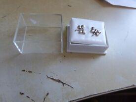 lovely pair of sterling silver earrings
