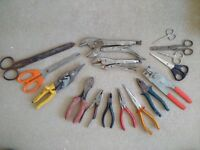 Pliers / Locking Pliers / Cutters / Scissors (16 x Pieces Job Lot)