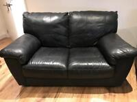 Free 2 black leather sofas