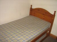 Pine bed consisting of single bed & guest bed stored below giving 2 single beds or 1 double+ bed