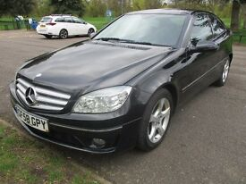 2008 58 MERCEDES CLC 2.1 CDI 200 SE FULL LEATHER BLACK FULL HISTORY LONG MOT NO ADVISORIES PX SWAPS