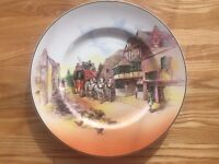 Royal Doulton Ware Plate Stage Coach Pattern