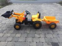 Kids JCB Tractor and trailer.