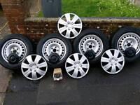 """16"""" van tyres n STEEL WHEELS"""