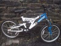 "Vertigo Etna 20"" Kids' Dual Suspension Mountain Bike"