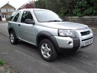 56 2006 LANDROVER FREELANDER TD4 REMOVABLE HARD TOP LONG MOT DRIVES WELL SWAP PX BIKE WHY?