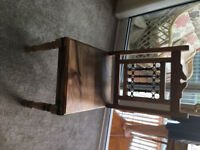 Solid wood dining table and 2 chairs