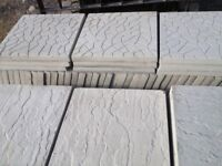 """Brand new patio slabs 18"""" x 18"""" can deliver for small fee"""