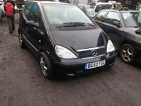 Mercedes A Class A140 2003 1.4 petrol 5dr black Breaking for spares.
