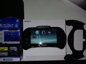 Ps vita Slim 8gb henkaku with hori remote grip