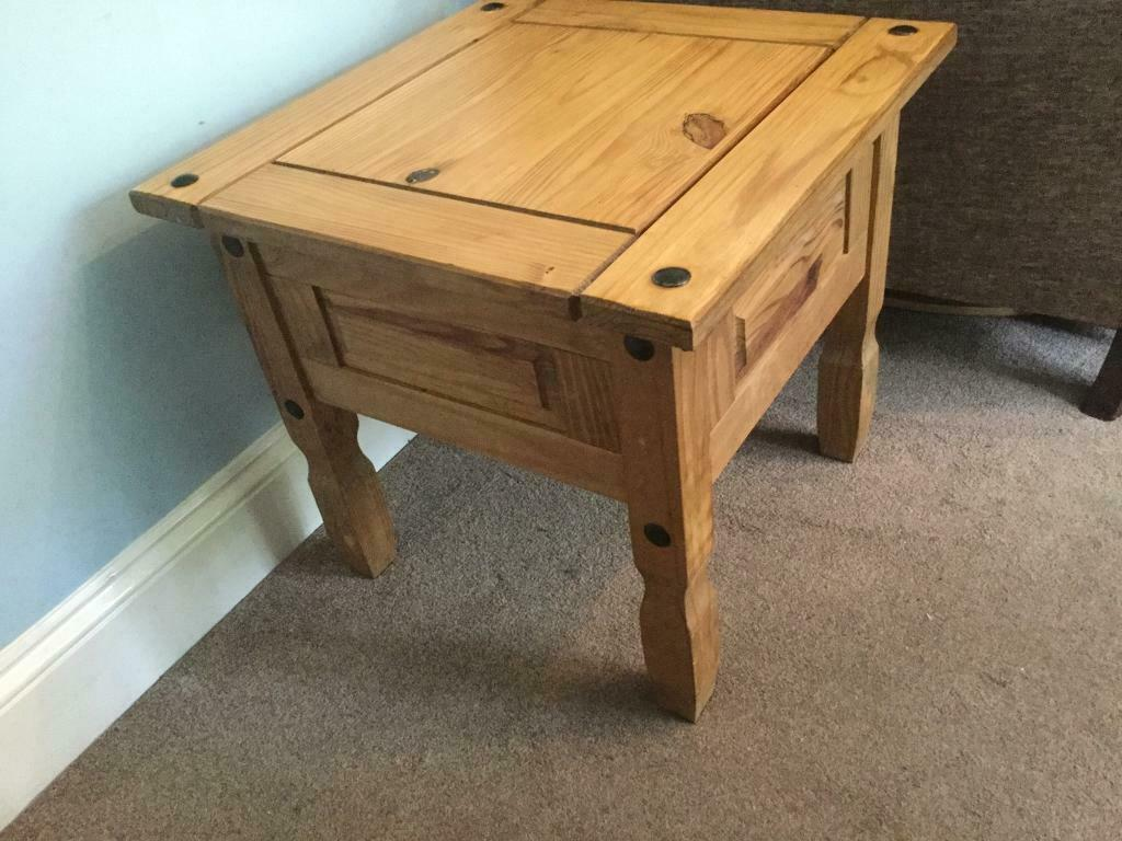 Outstanding Mexican Pine Square Coffee Table H21In 53Cm W23In 58Cm D23In 58Cm Excellent Condition In Bassaleg Newport Gumtree Machost Co Dining Chair Design Ideas Machostcouk