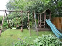 Large Wooden Childrens Climbing Frame/Swing/Chute etc