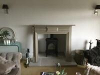 Beautiful Antique Solid mahogany Fire Surround