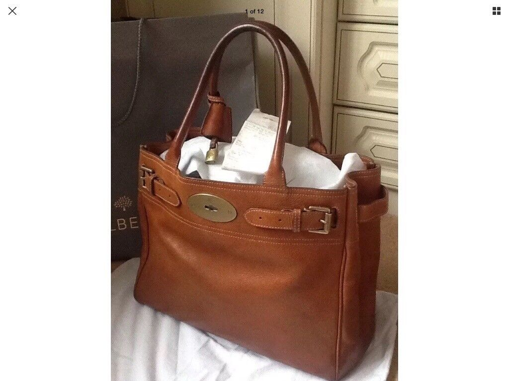 Mulberry large Bayswater tote in oak leather. Genuine with receipt, dust bag  and carrier 69d7fb394b