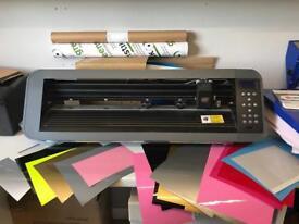 Professional Vinyl cutter & tshirt heat press with flexicut software