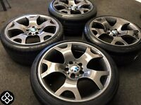 """NEW 19"""" GENUINE BMW TIGER CLAW ALLOYS WITH GREAT TYRES 235/55/17 - Gloss Platinum - Wheel Smart"""