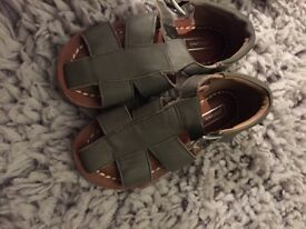 John Lewis khaki sandals size 9 (toddler)