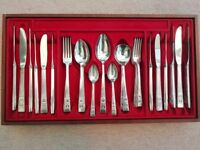 43 piece canteen of silver plated cutlery. Hampton Court, Community
