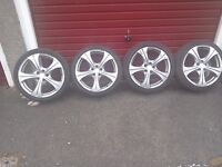 Vw golf alloys 17'' 205x 40 zr 17 good tyres