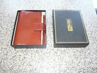 Brand new unused top leather personal organizer