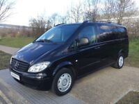 LHD LEFT HAND DRIVE MERCEDES VITO 111 CDI BLACK AUTOMATIC 9 SEATER WARRANTY PART EXCHANGE WELCOME