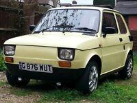 For sale is Italian classic FIAT 126 (UK registered RHD)