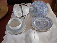 A Huge Collection of Willow Pattern and odd Blue and White items