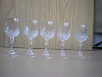 Six Cut Glass Liquor Glasses
