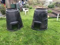 Free ... two black plastic compost bins