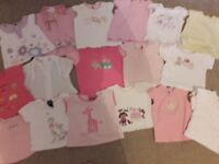 Girls 3-6 month clothes bundle (70 pieces of clothing)