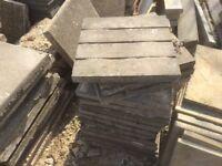 Reclaimed Wood Plank Effect 450x450 Paving Slabs