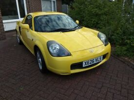 YELLOW Toyota MR2 1.8 VVT-i Roadster 2dr including matching Hardtop