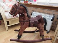 Rocking horse with sound suit 18- 3 years +