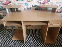 Computer desk with cd holders