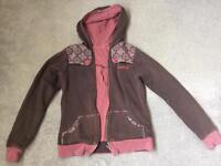 Billabong reversible hoodie ladies 10-12