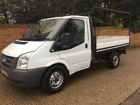 FORD TRANSIT 2.2 DROPSIDE TRUCK 2008 57 REG - 140 T300 - IDEAL FOR ROOFING -DRIVES SUPERBLY - NO VAT