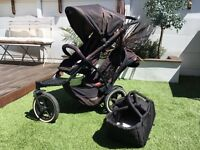 Phil and Teds Navigator Double Buggy with Snug Carry Cot