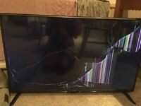 Lg flat screen Tv (cracked screen)