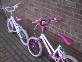 2 childs bikes, suit 4 to 6 years