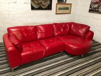 DESIGNER REAL LEATHER CORNER SOFA EXCELLENT CONDITION