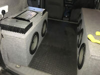 JL Audio install Subs + Amps