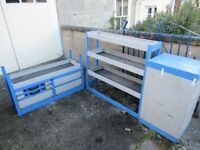 2 x BRISTOR van racking units drawers and shelf shelving storage, like TEVO, BOTT, SORTIMO, H modul
