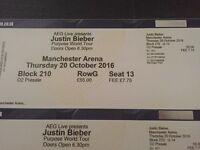Manchester Arena Justin Bieber Tickets